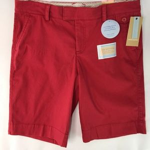 Dockers Mid Rise Curvy Fit Womens Shorts Size 10